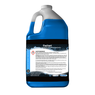 Radiant - Nettoyant peu moussant pour pièces à base d'acide organique Image