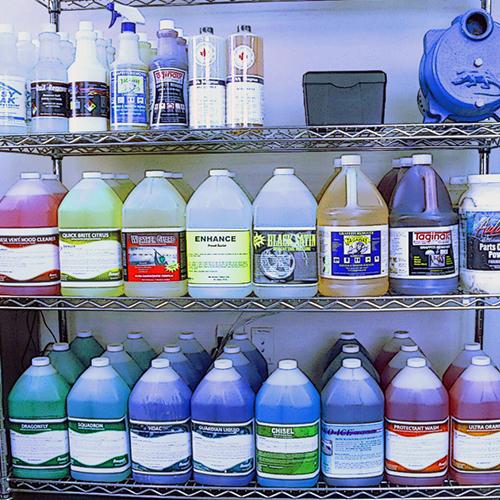 Soutien aux produits chimiques